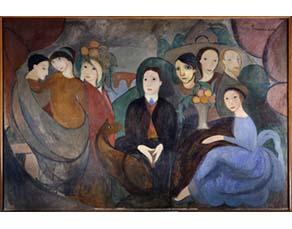 Marie Laurencin, Apollinaire et ses amis  (1909)