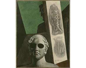 Giorgio Chirico, Portrait [prémonitoire] de Guillaume Apollinaire (1914)
