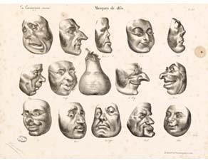 Honoré Daumier, Masques (1832)