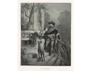 """Gravure de G. Doré pour """"Les Deux Pigeons"""" (1867)"""