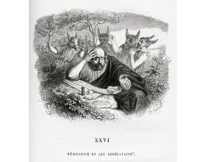 """Gravure de J.-J. Grandville (1803-1847) pour """"Démocrite et les Abdéritains"""""""