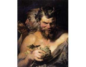 Tableau de P. P. Rubens, Deux Satyres (1619)