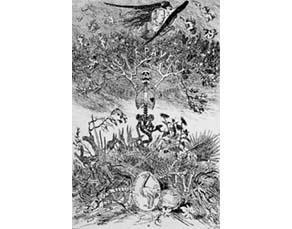 Félicien Rops, frontispice des Épaves (1866)