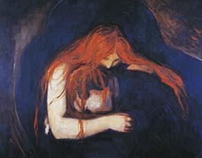 Edvard Munch, Vampire (1893)