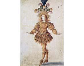 Louis XIV habillé en soleil, costume du ballet La Nuit (1635-1655).
