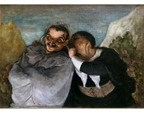 Honoré Daumier, Crispin et Scapin (vers 1864)