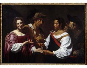 Simon Vouet, La Diseuse de bonne aventure (vers 1620)