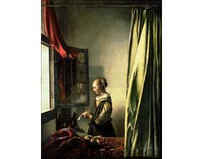 Johannes Vermeer, La Liseuse à la fenêtre (1658)