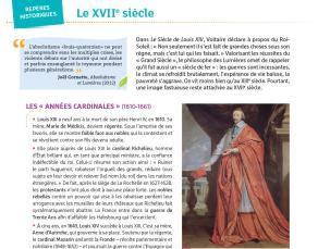 Repères historiques - Le XVIIe siècle