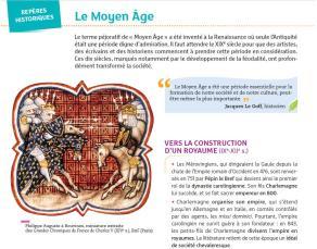 Repères historiques - Le Moyen Âge