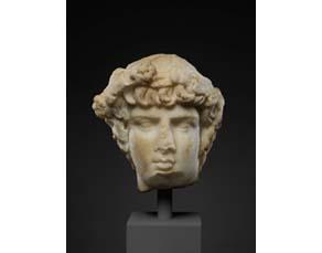 Buste d'Antinoüs, sculpture en marbre (Ier siècle)