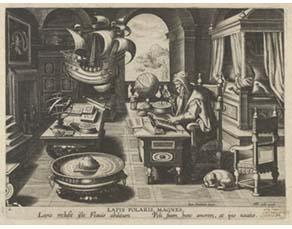Jean Stradanus, Savant vérifiant des mesures (XVIe siècle)